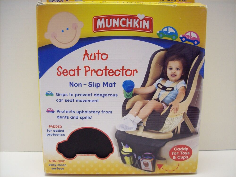 Baby Car Seat Accessories Munchkin Auto Seat Protector Black Expandale Storage Pocket New In Unopened Box