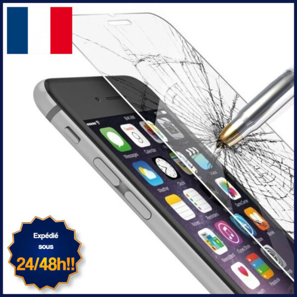 PROTECTION FILM EN VERRE TREMPE POUR IPHONE 6, 6S, 7, 8, X, XS TRANSPARENT