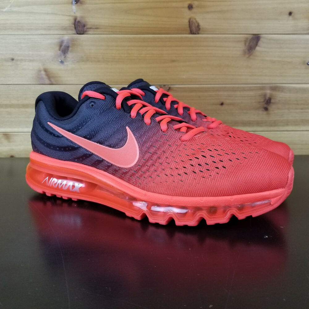 074a3961f254a7 Details about Nike Air Max 2017 Men's Running Shoes 849559 600 Red Black  Orange