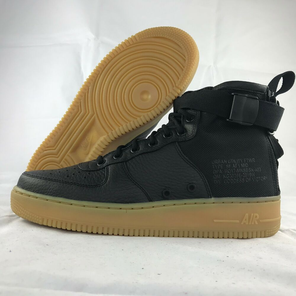 low priced 2c7bb 34a8f Details about Nike SF AF1 Mid Special Field Air Force 1 Black Gum Sole  917753-003 Men s 9-12