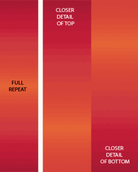 SALE*CARYL B FALLERT*OMBRE GRADATION**CHILLI**GREAT FOR BORDERS/1/2 METRE