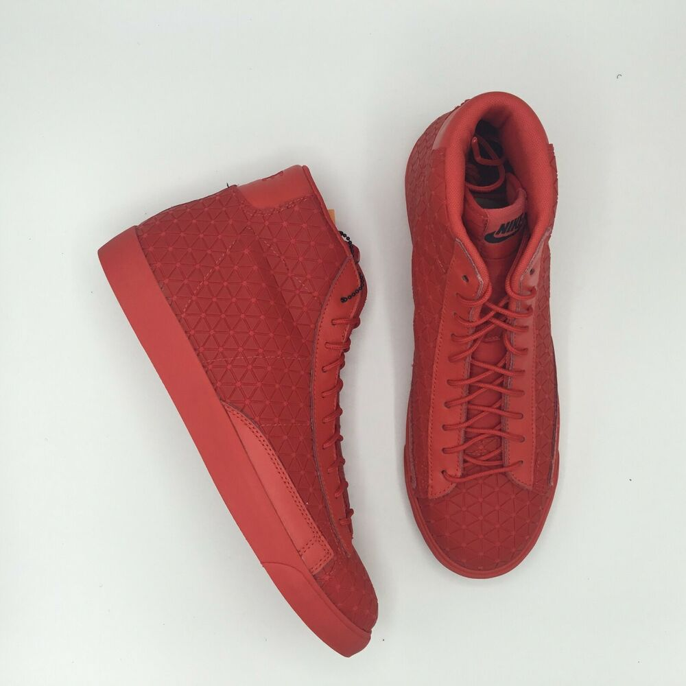 huge selection of 167bd 94a7c Details about NIKE NIKE BLAZER MID METRIC QS UNIVERSITY RED 744419 600 SIZE  11 BRAND NEW