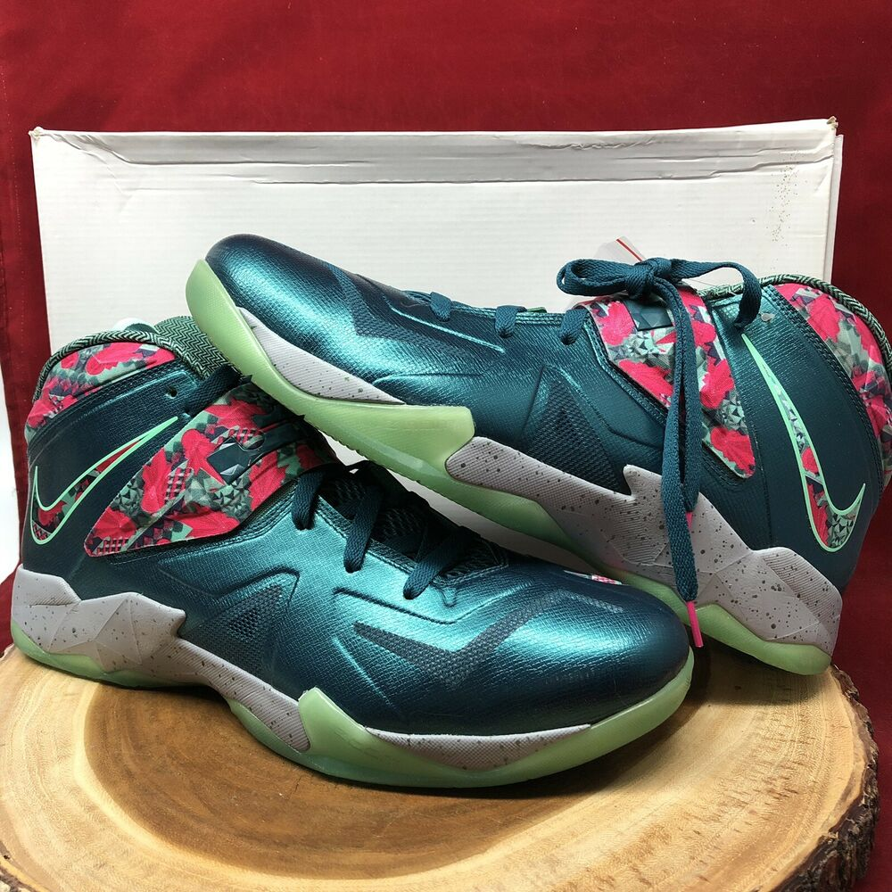 quality design 5be9e c52a3 Details about Nike Lebron Zoom Soldier VII 7 Power Couple Size 14 South  Beach 599264 300 VIII
