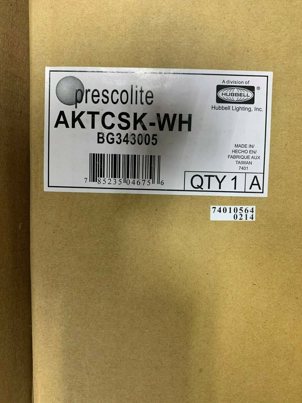 New lot of 2 Prescolite Architrak Live End Connector AKTEF-WH BG328100 Hubbell