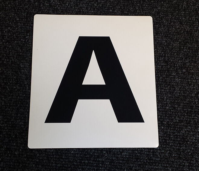 Details about NEW SELF ADHESIVE Dressage Arena Markers / Letters x 12 A B C E F H K M R S V P