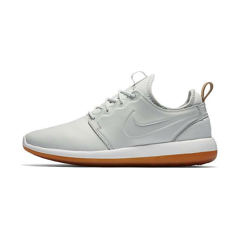 cheap for discount 8cc84 c21be Details about NIKE ROSHE TWO US 7 LEATHER PRM 2 PREMIUM OFF WHITE WHITE GUM  881987 100 NEW