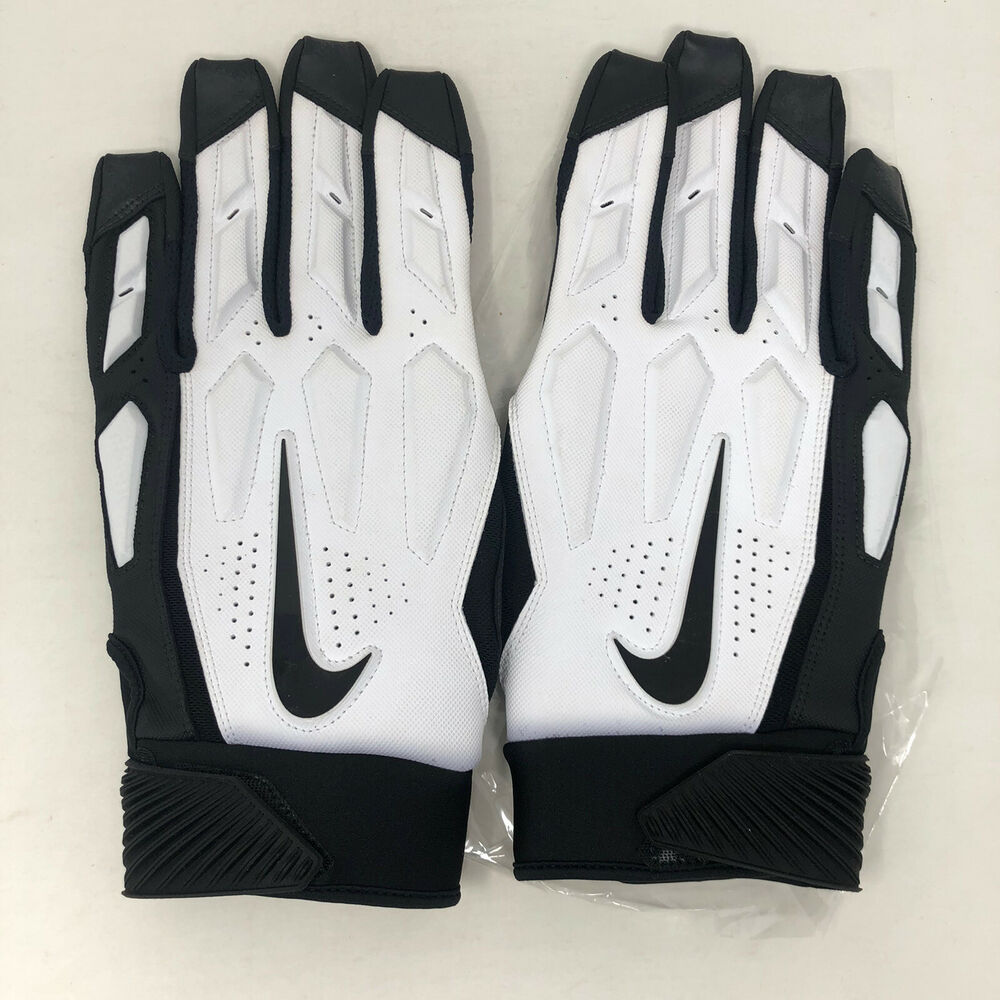 100% authentic 69113 d6476 Details about 🔥 New Nike D-Tack 6.0 Football Linemen Gloves 4XL Padded  White Black Adult  2🔥