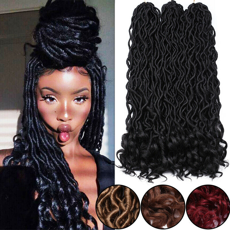 20 Roots Crochet Curly Faux Locs Dreadlocks Hair Extensions Braiding