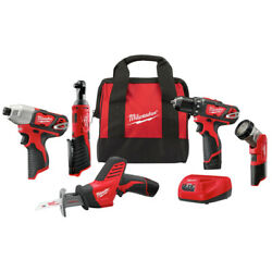 Kyпить Milwaukee 2498-25 M12 Li-Ion 5-Tool Combo Kit New на еВаy.соm