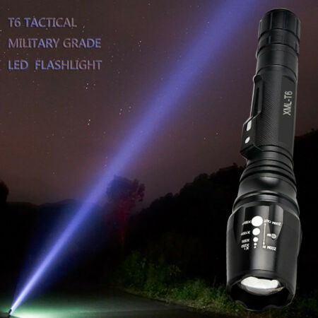 img-Bright 50000LM T6 LED 5-Modes Military Flashlight Torch Zoomable Lamp Light