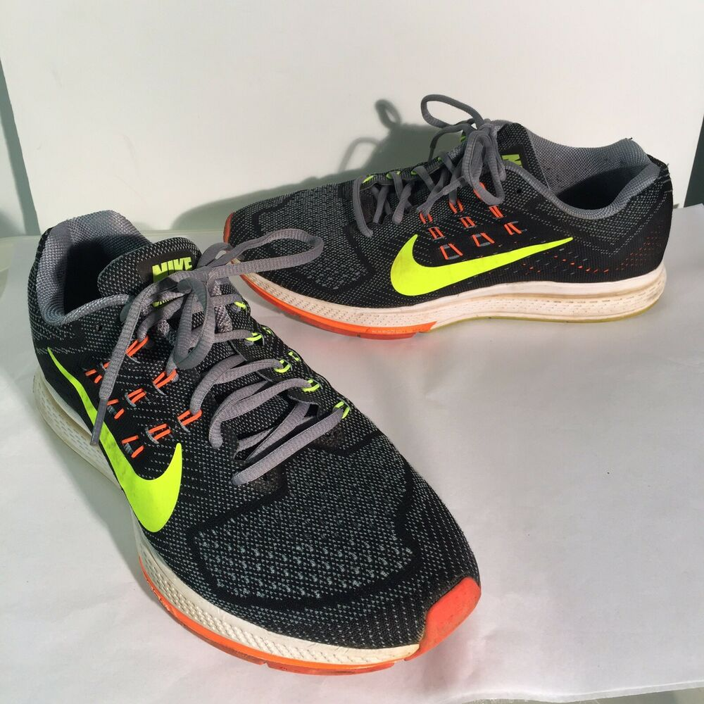 e02314640ceb2 Details about NIKE Air Zoom Structure 18 Running Shoes Men s US 9.5  683731-001 Grey Volt Black