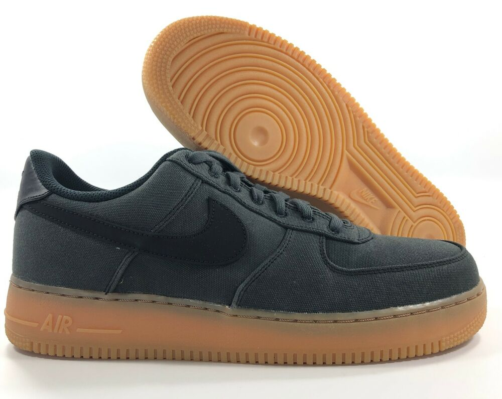 huge discount 7370a 29f80 Details about Nike Air Force 1  07 LV8 Style Low Black Gum Sole AQ0117-002  Men s 10.5-11.5