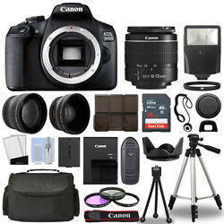 Kyпить Canon EOS 2000D / Rebel T7 SLR Camera + 3 Lens Kit 18-55mm + 16GB + Flash & More на еВаy.соm