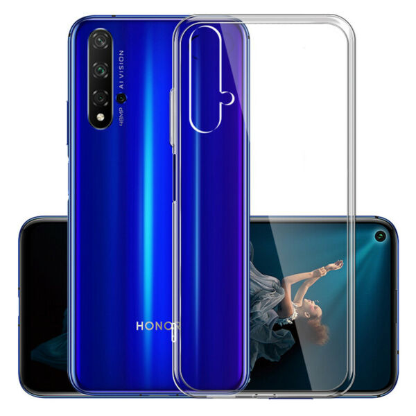 For Huawei Honor 20 Pro 20 Lite Crystal Clear Silicone Soft TPU Back Case Cover