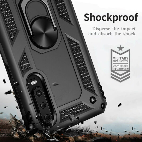 For Huawei P30 P20 Mate Pro/ Lite P Smart Military Armor Case Ring Holder Cover