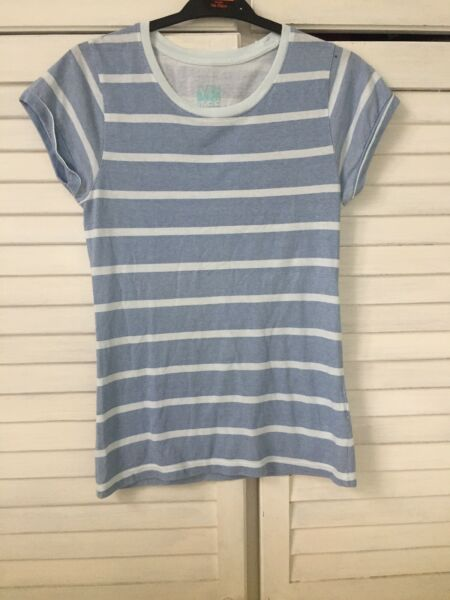 Atmospheric Turn Back T/shirt  Size 6 - Blue Stripey