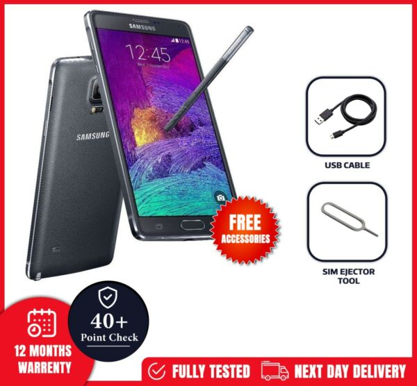 Samsung SM-N910FZKEBTU Galaxy Note 4 32GB (Unlocked) Charcoal Black PRISTINE