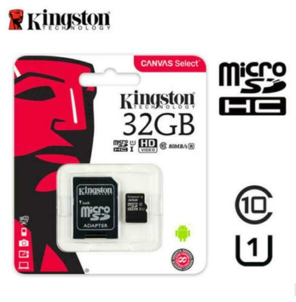 Kingston 32GB 80MB/S Micro Sd SDHC SDXC Class10 Uhs-I Scheda di Memoria