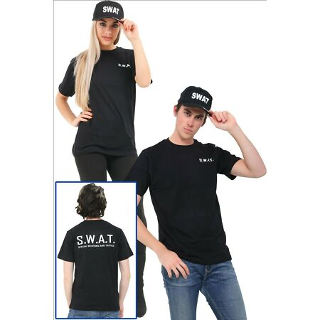 img-Adult SWAT Printed T-Shirts Boys Kids Printed T-Shirts SWAT Hat 5/13 S/XXL New