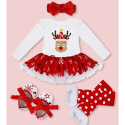 Kyпить US Girls Baby Christmas Outfit Kids Xmas Party Romper Tutu Dress Clothes Costume на еВаy.соm