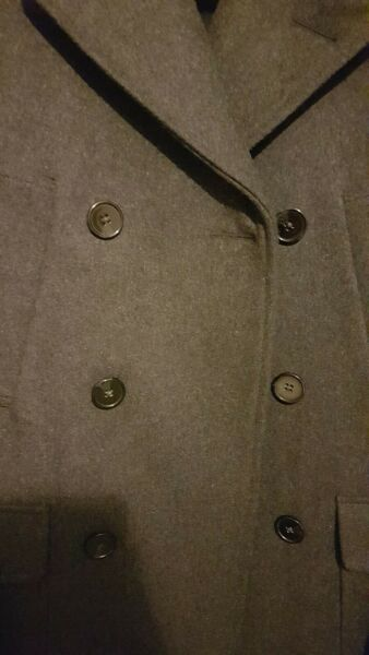 Charcoal Grey Next Tailoring Peacoat (size: small)