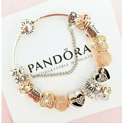 Kyпить Authentic Pandora Bracelet Silver Bangle with Love Heart European Charms на еВаy.соm