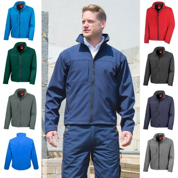 Men's Softshell Lined Jacket Waterproof Windproof Breathable Soft Shell - R121M