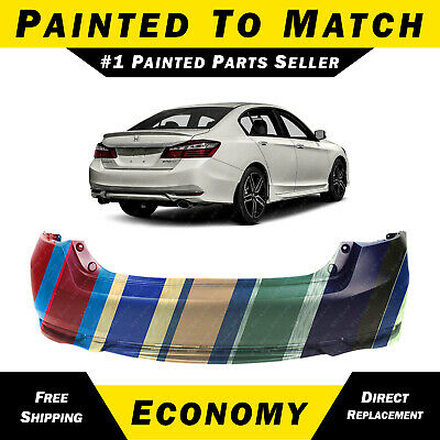 NEW Painted To Match - Rear Bumper Cover for 2016 2017 Honda Accord Sport/EX-L