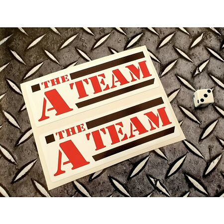 img-The A Team retro Stickers Decals Graphic Vinyl Label 120mm x 45 x 2 stickers