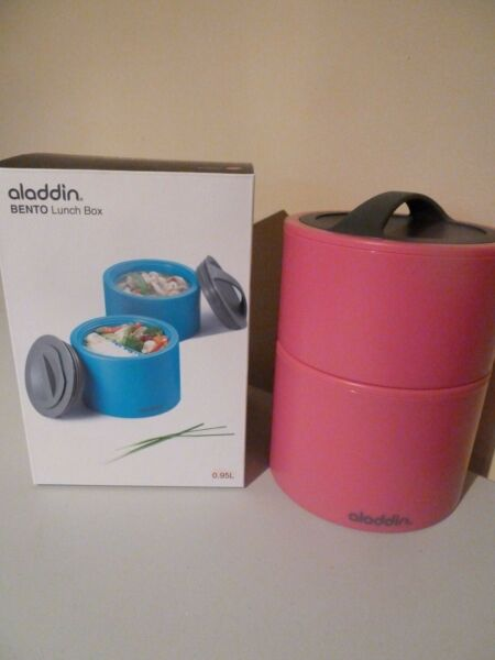 ALADDIN BENTO STACKABLE LUNCH BOX - PINK