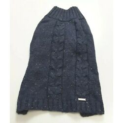 Blueberry Dog Pet Acrylic Wool Blend Sweater Blue Speckle Size L/14''