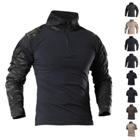 img-Airsoft Men's Army Tactical Shirt Long Sleeve T-Shirt Military Pullover Casual
