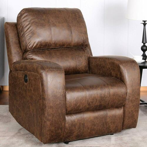 Lazy Boy Recliner Manual Sofa Chair With Cup & Phone Holders Lounge Living Room