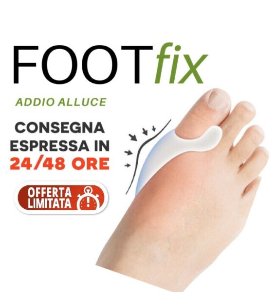 2 FOOTFIX per alluce valgo dx-sx. Tutore in silicone  anallergico Foot fix