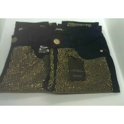 2 Lexy let's get sexy Elpis Crystal pants size 25 and 24 gold stud Jean  LA