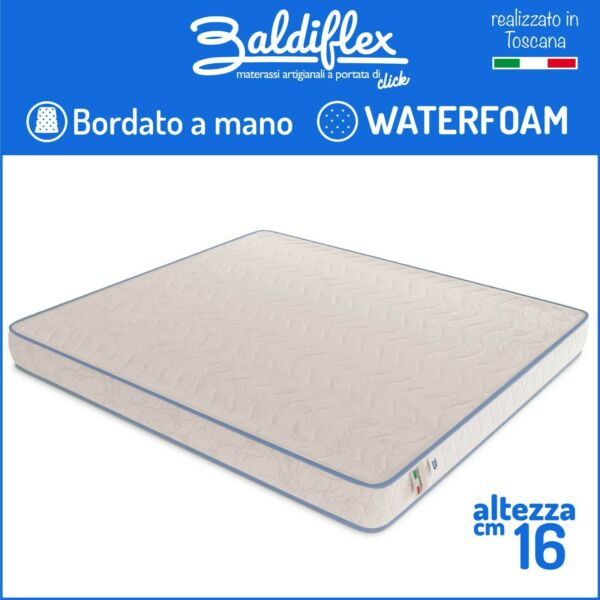 MATERASSO SINGOLO 80x190 H 16 CM WATERFOAM POLIURETANO ORTOPEDICO BASIC