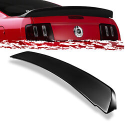 For 05-09 Mustang GT500 Duck Tail Style Gross Black Deck Lid Spoiler Wing