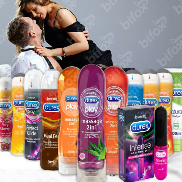 DUREX GEL TOP PLAY 2IN1 MASSAGE STIMOLANTE LUBRIFICANTE RITARDANTE INTIMO 50 200