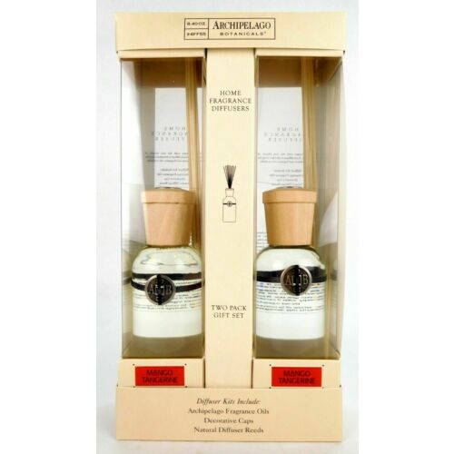 Gift Set Home Fragrance Reed Diffuser Archipelago Botanicals 8.4 oz - 2 Pack NEW