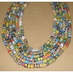 Kyпить African Necklace Trade Beads Long Strand Necklet Choker Ghana Ashanti Multicolor на еВаy.соm