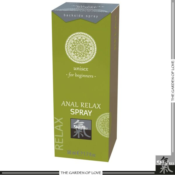 Toy Sex Anestetizzante Rilassante Ano Shiatsu Anal Relax Spray 50 ml Unisex Ass