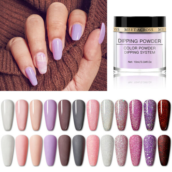 Meet Across Dipping Acrylique Poudre Liquide Powder Dip Ongles Nail Art Tips
