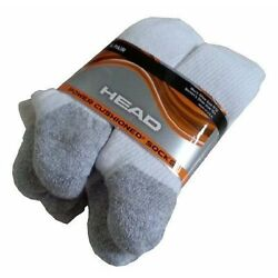 Kyпить 6 PACK COSTCO HEAD POWER CUSHIONED SOCKS WHITE MEN'S SIZE 9-12 CUSHION / NWOT на еВаy.соm