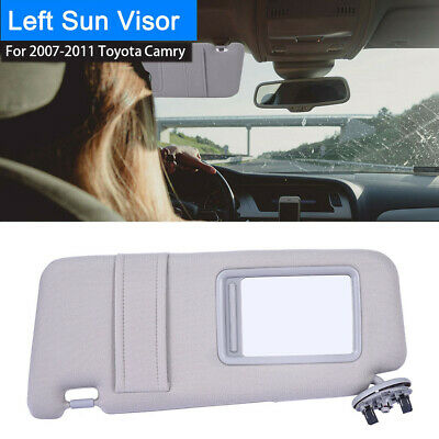 Left/Driver Side Sun Visor Gray For 2007-2011 Toyota Camry Without Sunroof Gray
