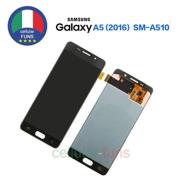 Display Per SAMSUNG Galaxy A5 2016 SM-A510F LCD +Touch Screen Schermo Vetro Nero