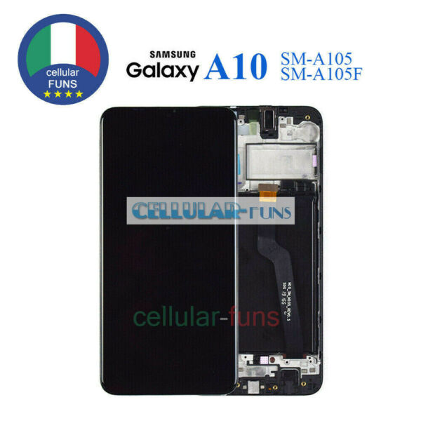 SCHERMO LCD SAMSUNG GALAXY A10 2018 SM A105 F FN DS DISPLAY TOUCH SCREEN VETRO