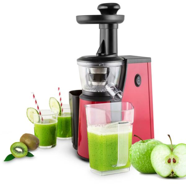FranceCENTRIFUGEUSE A FROID 400W EXTRACTION LENTE JUS DE FRUIT SLOW JUICER INOX ROUGE