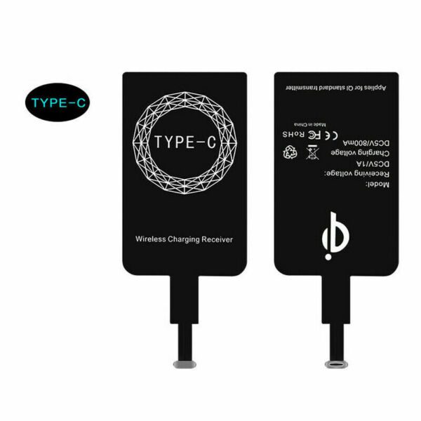 Wireless Type-C Charger Adapter Charging Receiver For Huawei P20 Lite P30 P10