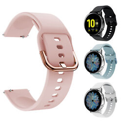 Kyпить For Samsung Galaxy Watch Active 2 42 46 40mm 44mm Sport Soft Silicone Band Strap на еВаy.соm