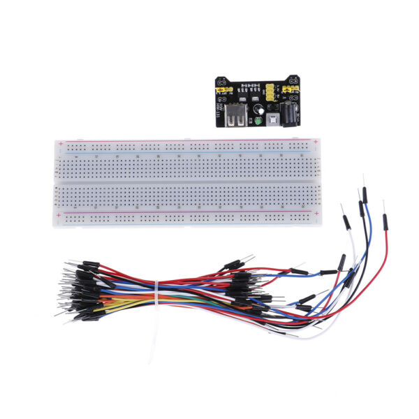 Solderless prototype breadboard + optional 65x jumper wires + MB-102 ~RK